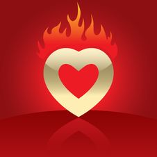 Free Illustration Of Heart In Flames Stock Image - 8092451