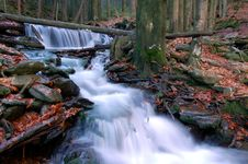 Free Autumn Waterfall In Bohemia Royalty Free Stock Photo - 8092545