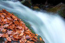 Free Autumn Waterfall In Bohemia Royalty Free Stock Photos - 8092588