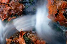 Free Autumn Waterfall In Bohemia Royalty Free Stock Images - 8092609
