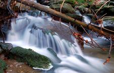 Free Autumn Waterfall In Bohemia Royalty Free Stock Images - 8092619