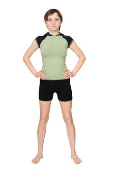Young Woman Making Fitness Exercises Royalty Free Stock Images