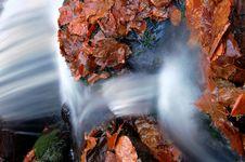 Free Autumn Waterfall In Bohemia Royalty Free Stock Image - 8092636
