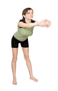 Free Young Woman Making Fitness Exercises Royalty Free Stock Photos - 8092638