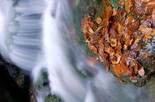Free Autumn Waterfall In Bohemia Stock Photography - 8092652
