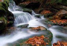 Free Autumn Waterfall In Bohemia Royalty Free Stock Image - 8092656