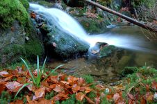 Free Autumn Waterfall In Bohemia Royalty Free Stock Image - 8092686