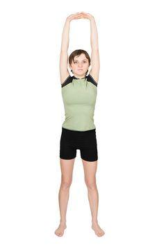 Free Young Woman Making Fitness Exercises Royalty Free Stock Photos - 8092778