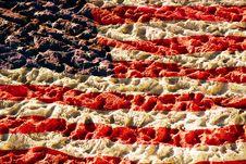Flag Of America On Sand Stock Photos