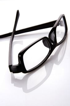 Free Black Frame Eyeglasses Royalty Free Stock Images - 8093019