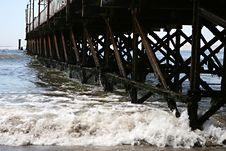 Free Crashing Waves And Pier Stock Photo - 8093770