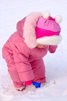 Free Pretty Little Girl In Winter Outerwear. Stock Photo - 8094140