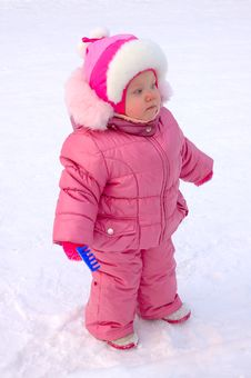 Free Pretty Little Girl In Winter Outerwear. Royalty Free Stock Photography - 8094207