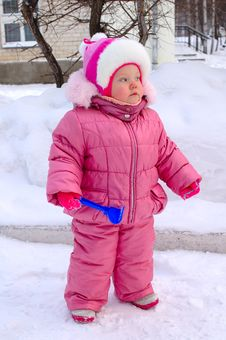 Free Pretty Little Girl In Winter Outerwear. Royalty Free Stock Photo - 8094285