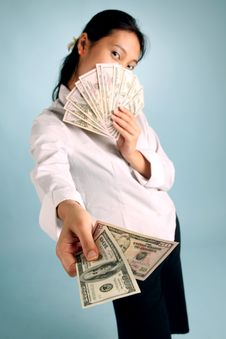 Free Woman With Money Stock Photos - 8094713
