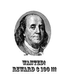 Free Wanted Franklin! Royalty Free Stock Photography - 8095247