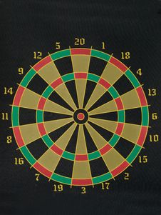 Free Dart Board With Numbers Around Outside Stock Image - 8095381