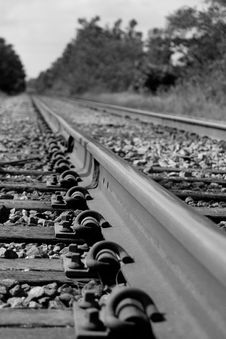 Free Railroad Track Royalty Free Stock Photography - 8095387