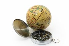 Free Compass And Globe Royalty Free Stock Photo - 8095775