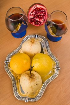 Wine And Fruit. Royalty Free Stock Photo