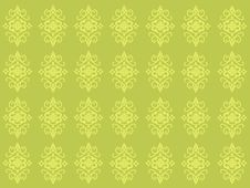 Free Green Background With Yellow Ornament Stock Image - 8095901