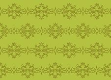 Green Background With Ornament Royalty Free Stock Photo