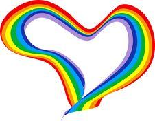 Valentine S Rainbow Stock Images