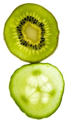 Free Kiwi & Cucumber Stock Image - 8096331