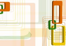Abstraction From Rectangles. Orange Stock Photography