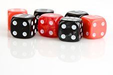 Black And Red Dices Royalty Free Stock Photos