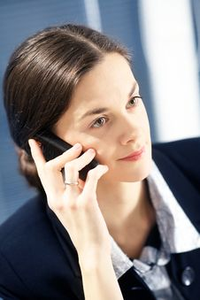 Free Woman Is Making A Call. Stock Photography - 8096532