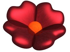 Free Flower With Petals As Hearts Royalty Free Stock Photo - 8096865