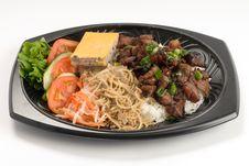Free Barbecue Pork Over Rice Stock Photo - 8096950