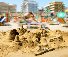 Free City From Sand Royalty Free Stock Photo - 8097365