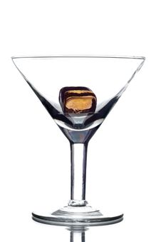 Free Empty Martini Glass Stock Images - 8097404