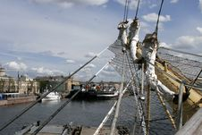 Free Sails At The St.Petersburg Pano Stock Photo - 8097590