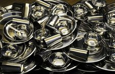 Free Dishware With Steel Stock Photo - 8097600