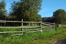 Free Pole Fence In Russian Village Stock Photography - 8097792