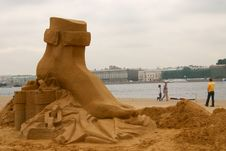 Free Sandy Sculpture Royalty Free Stock Photography - 8097827