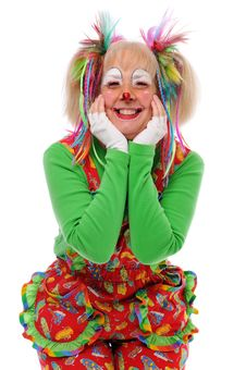 Clown S Portrait Royalty Free Stock Photography