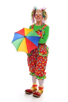 Free Clown With Umbrella Stock Photos - 8097863