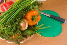 Still-life With Vegetables. Royalty Free Stock Image