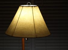 Free Lamp Shade With Blinds Royalty Free Stock Photography - 8098437