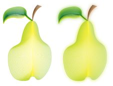 Free Linear Pears Royalty Free Stock Image - 8098446