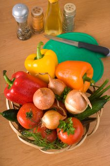 Vegetable Still-life. Royalty Free Stock Photo