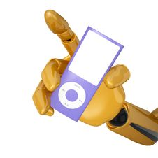 Look To The Portable Multimedia Player Stock Photos