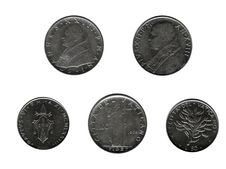 Free 5 Vatican Coins Royalty Free Stock Photo - 8098835