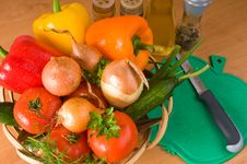 Vegetable Still-life. Stock Photos
