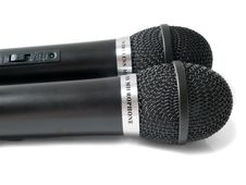 Free Two Microphones Royalty Free Stock Images - 8098949