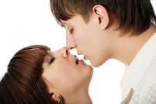 Free Romantic Kiss Stock Photo - 8099100